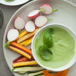 Creamy Basil Parsley Dip on Gourmande in the Kitchen