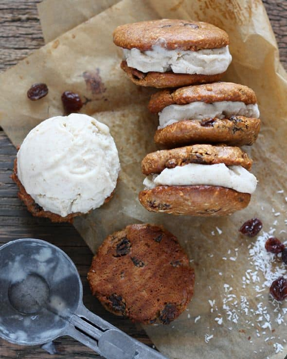 paleo ice cream sandwich, oatmeal ice cream sandwiches, dairy-free ice cream sandwich