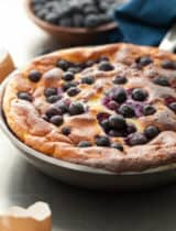 Sweet Blueberry Lemon Puffed Omelette