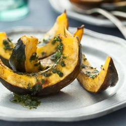 roasted acron squash, roasted squash, squash recipe, roasted vegetables, vegetable side dish, Thanksgiving side dish, holiday side dish, paleo side dish, vegan side dish