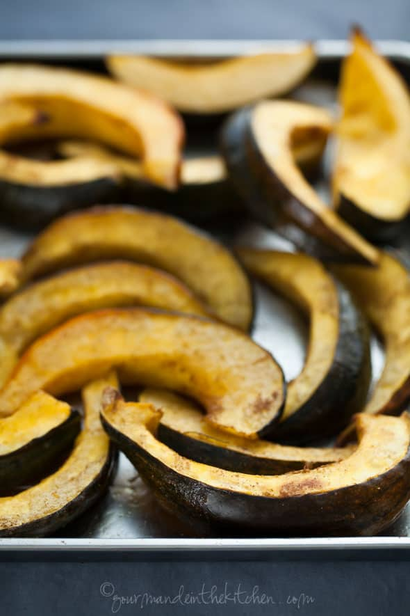 roasted acorn squash, acorn squash, squash recipe, squash side
