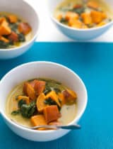 Thai-Style Coconut, Sweet Potato and Spinach Soup