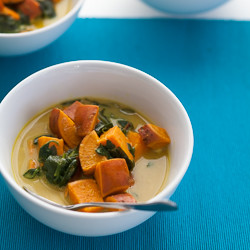 Thai soup. Thai coconut soup, sweet potato soup, sweet potato spinach soup, vegan soup, paleo soup, winter soup, spicy soup, curry soup, Thasi yellow curry. Thai yellow curry soup
