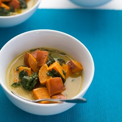 Thai soup. Thai coconut soup, sweet potato soup, sweet potato spinach soup, vegan soup, paleo soup, winter soup, spicy soup, curry soup, Thasi yellow curry. Thai yellow curry soup