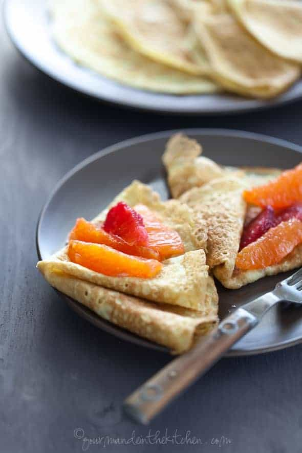 Grain-Free Crêpes with Honey Citrus Compote