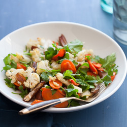 Warm Cauliflower Carrot Salad with Citrus Miso Dressing