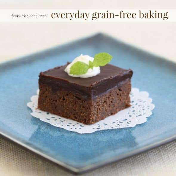 Coconut Flour Brownies with Chocolate Ganache from Everyday Grain-Free Baking on Plate