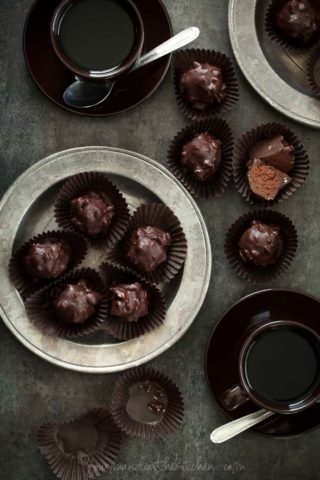Almond Praline Chocolate Rochers
