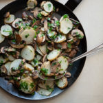 Sunchoke (Jerusalem Artichoke) and Mushroom Sauté Persillade on gourmandeinthekitchen.com (60 of 104)