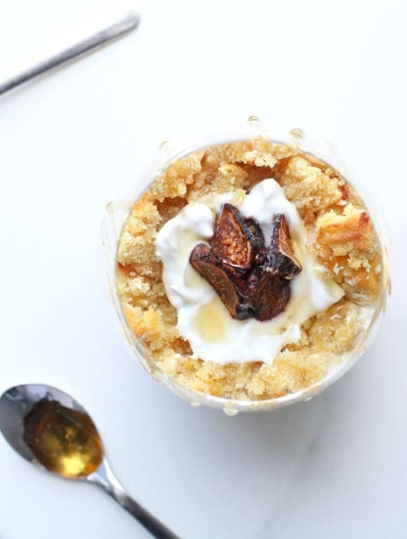Broken Vanilla Cupcake Fig & Banana Coconut Cream Trifles