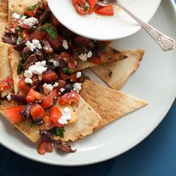 Grain-Free Pita Chips and Mediterranean Style Nachos