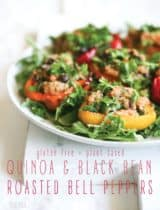 Quinoa Black Bean Roasted Bell Peppers