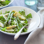 Spring Asparagus, Artichoke and Arugula Salad with Chive Vinaigrette