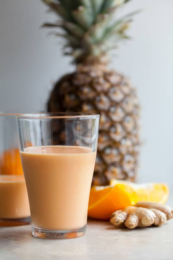 Mango, Pineapple, Carrot Smoothie