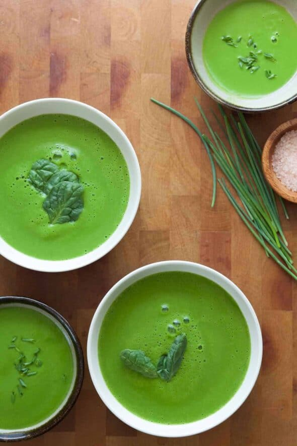 A cleansing green soup to nourish and revitalize your body anytime of year.