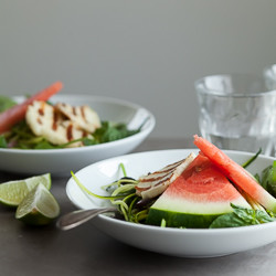 Watermelon, Spinach and Zucchini Noodle Salad
