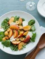 Peach Green Bean Salad with Basil Vinaigrette