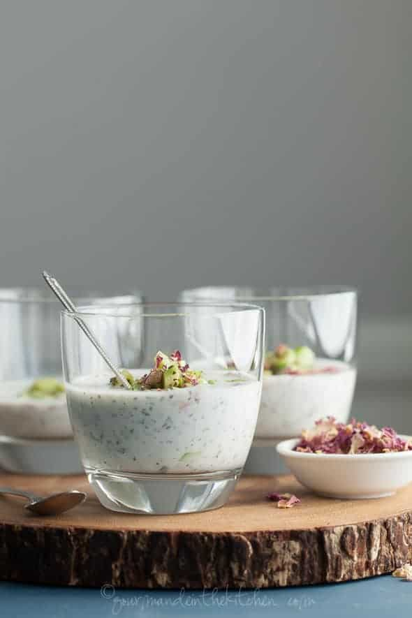Persian Style Cucumber Yogurt Soup