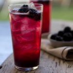 Blackberry Orange Blossom Soda