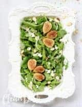 Chèvre & Fresh Fig Salad with Honey Poppy Seed Vinaigrette