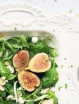 Chèvre & Fig Salad with Honey Poppy Seed Vinaigrette