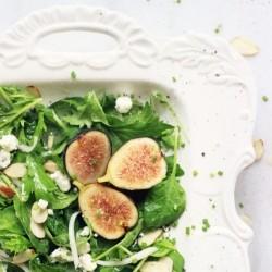 Chèvre Fig Salad with Honey Poppy Seed Vinaigrette