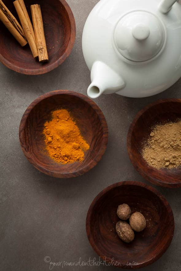 Sweet Potato Pie Spiced Turmeric Milk Ingredients