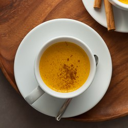 Spiced Sweet Potato Turmeric Milk on Gourmande in the Kitchen