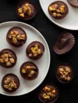 Mulberry Pistachio Chocolate Clusters