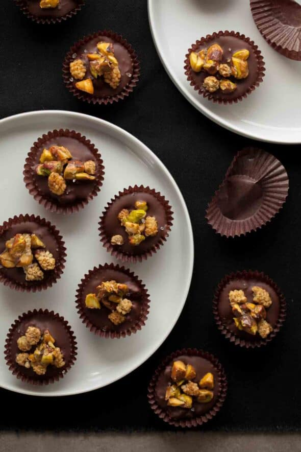 These bite-sized chocolate fruit and nut clusters are easy to whip up whenever you need a sweet treat. You can make a dozen of them in minutes with ingredients that you may already have in your pantry.