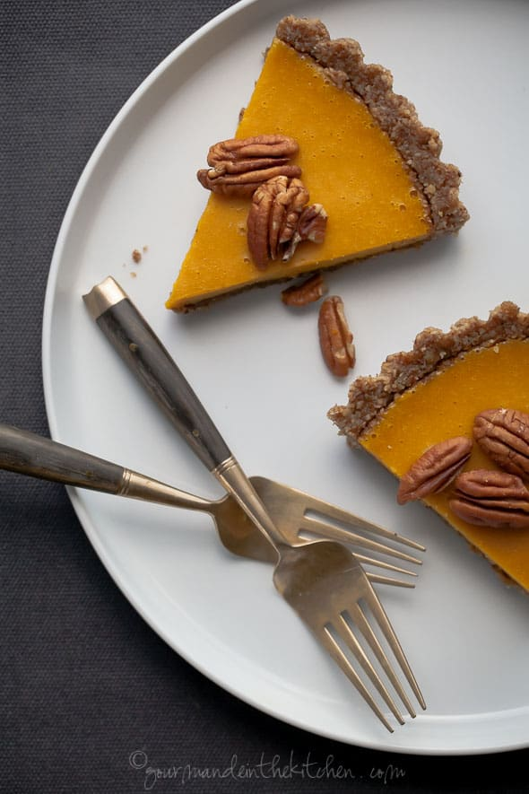 Gluten-Free Ginger Spiced Carrot Tart Sliced
