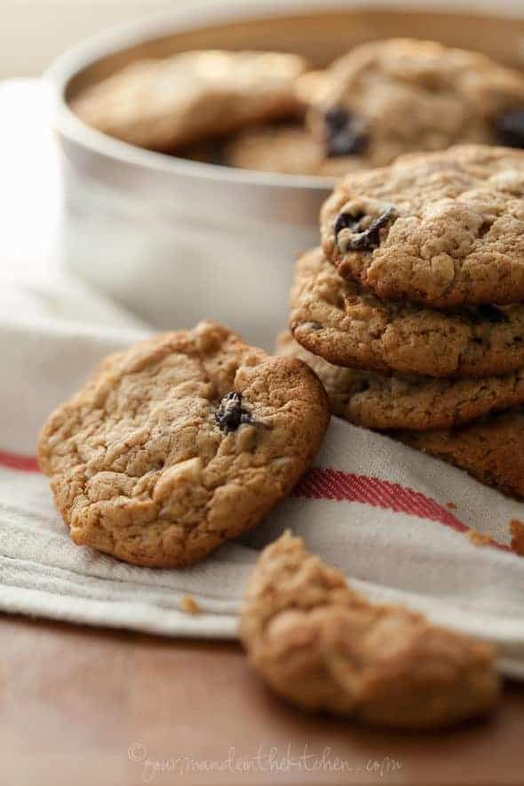 Cherry Cashew Cookies Close Up