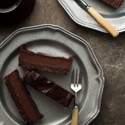 Chocolate Peppermint Silk Brownie Bars