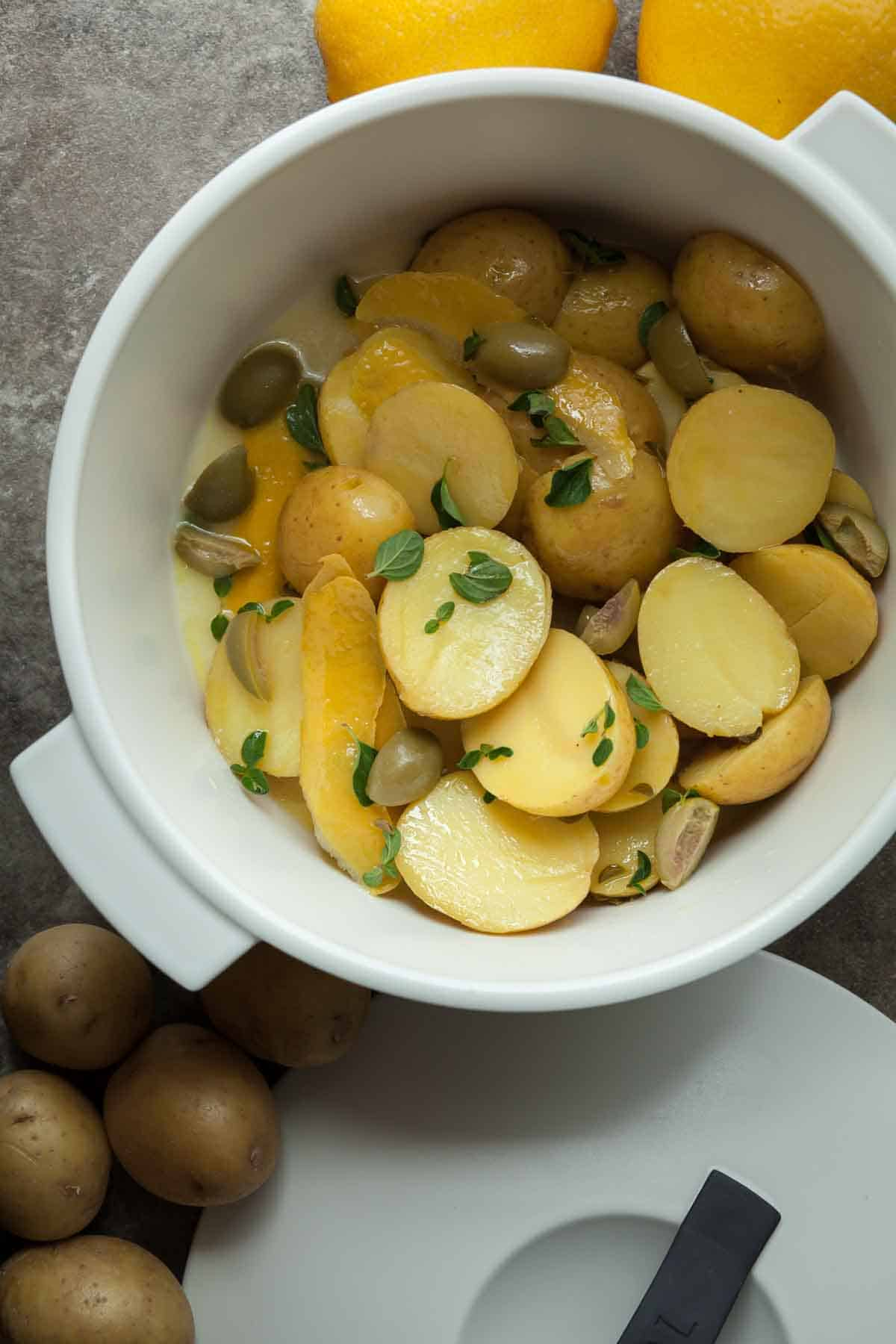 Greek Style Lemon Potatoes | Gourmande in the Kitchen
