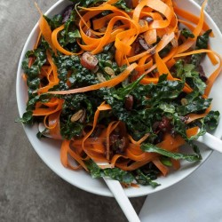 Moroccan Kale and Carrot Ribbon Salad | Gourmande in the Kitchen