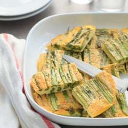 Baked Omelette with Asparagus and Pesto (Dairy-Free, Paleo)