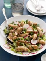 Roasted Fingerling Potato and Celery  Salad with Mustard Herb Vinaigrette