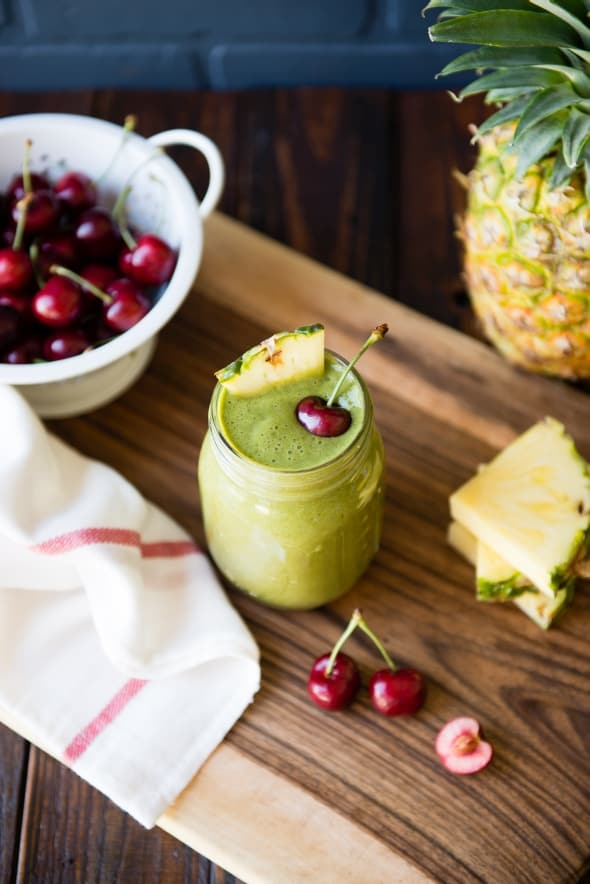 Pineapple Upside Down Cake Smoothie Recipe from Simple Green Smoothies