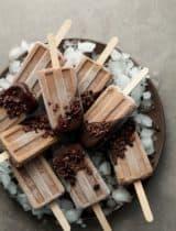 Chocolate Dipped Fudge Popsicles (Paleo, Raw, Vegan)