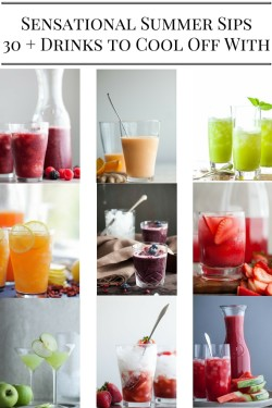 30+ Summer Drink Recipes | With both non-alcoholic and alcoholic drinks as well as lemonades, juices and smoothies, there's a drink recipe for every occasion.