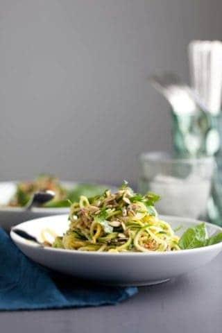 Summer Squash Noodles with Basil Lime Dressing