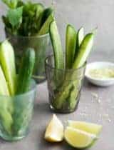 Chilled Cucumber Spears with Citrus Mint Salt