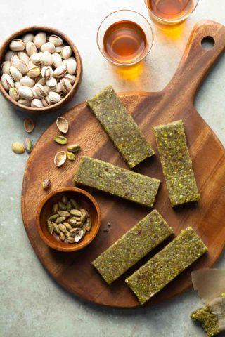 Gluten-Free Cardamom Pistachio Energy Bars (Paleo)