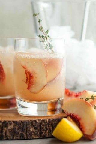 Thyme Stone Fruit Shrub Soda