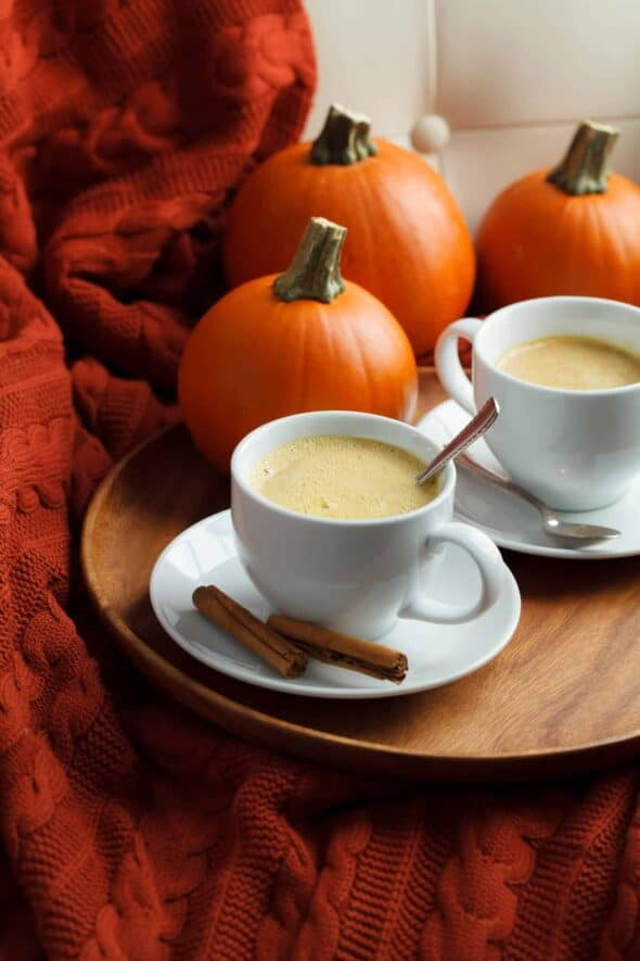 Rooibos Pumpkin Spice Tea Latte in Cups