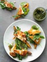Halloumi Sweet Potato Toasts (Tartines)
