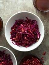 Festive Red Beet and Cabbage Slaw