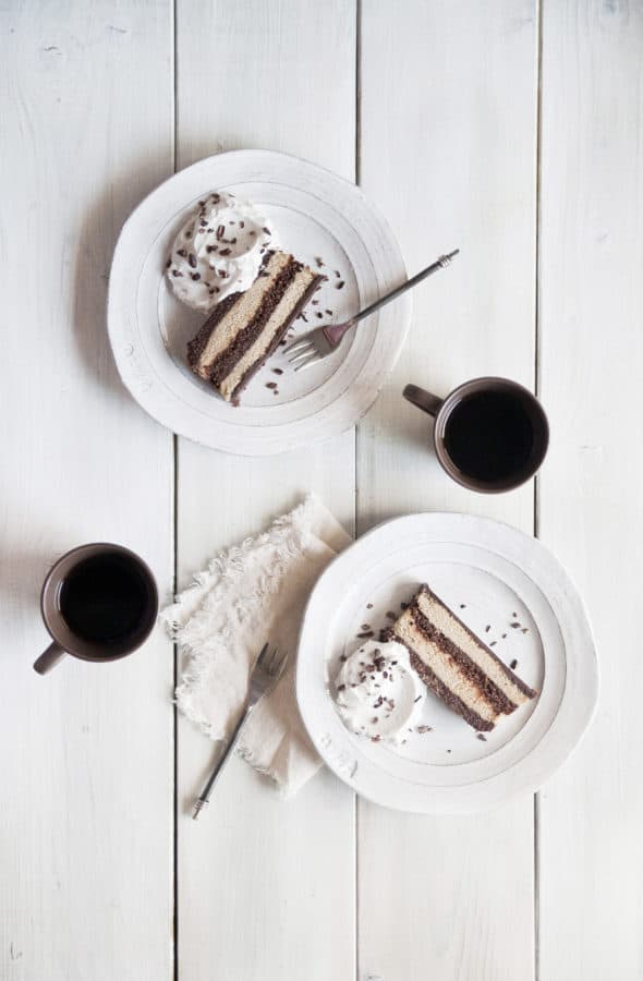 No-Bake Chocolate Mocha Cake from Cut the Sugar, You're Sweet Enough by Ella Leché