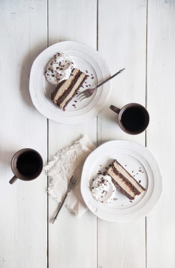 No-Bake Chocolate Mocha Cake from Cut the Sugar, You're Sweet Enough by Ella Leché