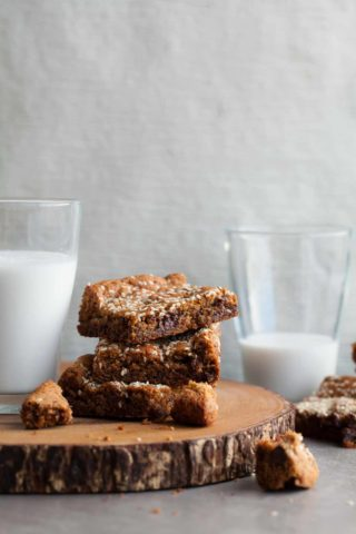 Tahini Almond Blondies (Gluten-Free, Paleo)
